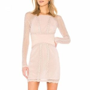 Free People Mixed Mesh Lace & Mesh Bodycon Dress